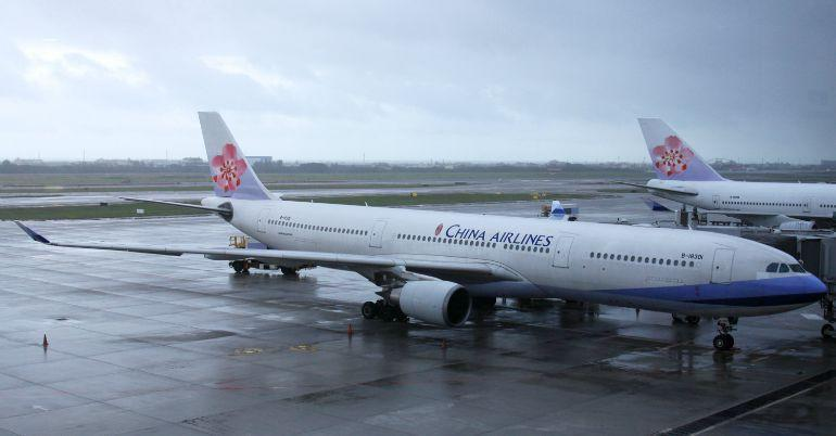 China Airlines danno fusoliera