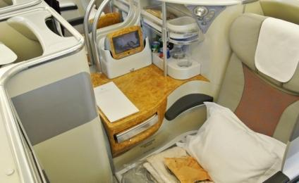 Emirates airline business class.