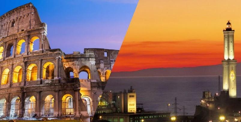 VOLI ROMA GENOVA - COMPAGNIE, AEROPORTI, ORARI E ALBERGHI